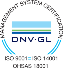 DNV GL – ISO 9001 – ISO 14001 – OHSAS 18001 -sertificate